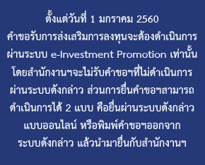 Cluster Investment Promotion