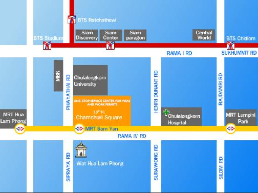 One Start One Stop Investment Center (OSOS)  Map